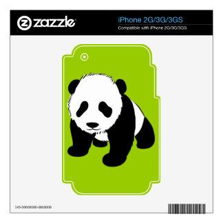 BLACK WHITE PANDA BEAR ENVIRONMENT ANIMALS WILD SKINS FOR THE iPhone 3G