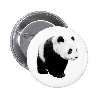 Black & White Panda Button
