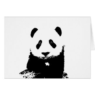Black & White Panda Card