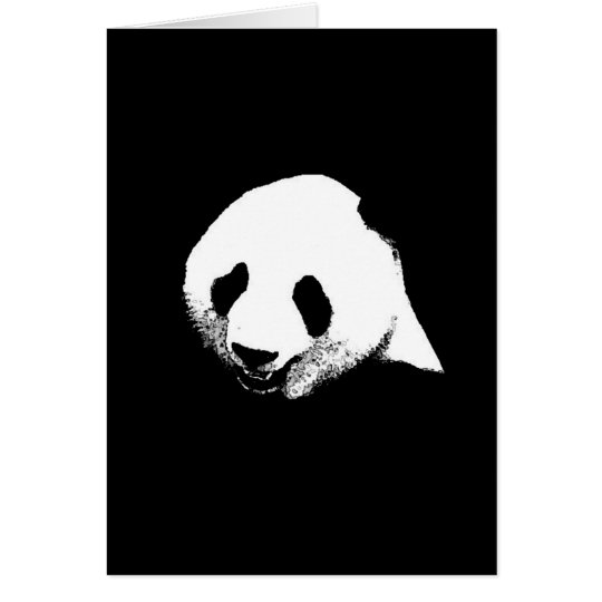 Black & White Panda Card