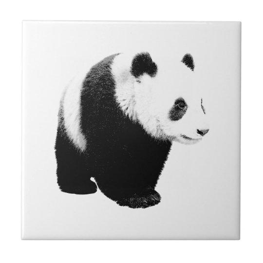 Black & White Panda Ceramic Tile