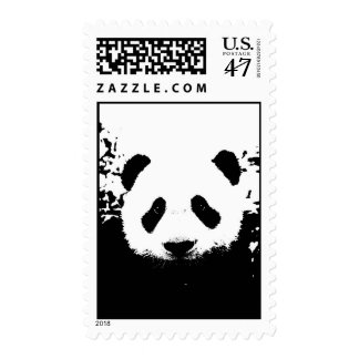 Black & White Panda Face Postage
