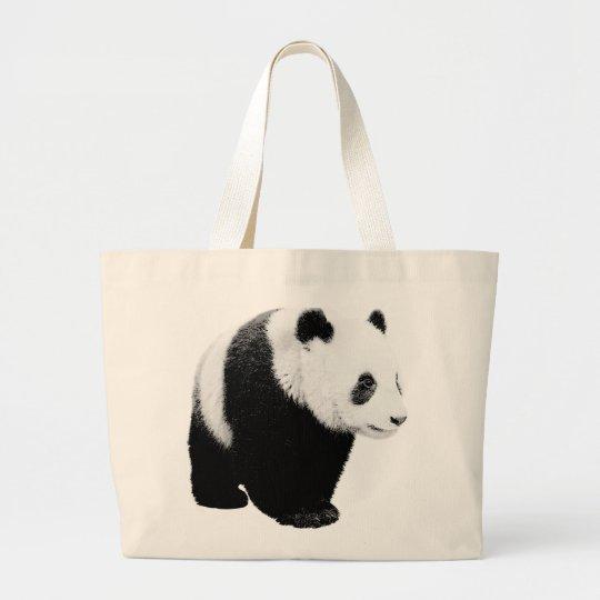 Black & White Panda Large Tote Bag