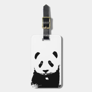 Black & White Panda Luggage Tags