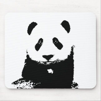 Black & White Panda Mouse Pad