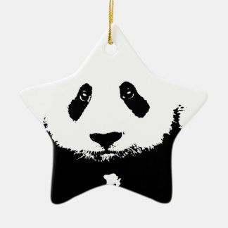 Black & White Panda Ornaments