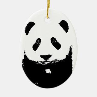 Black & White Panda Christmas Tree Ornaments