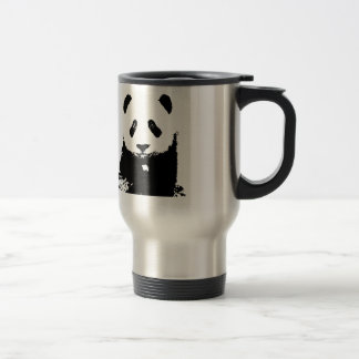 Black & White Panda Pop Art Travel Mugs