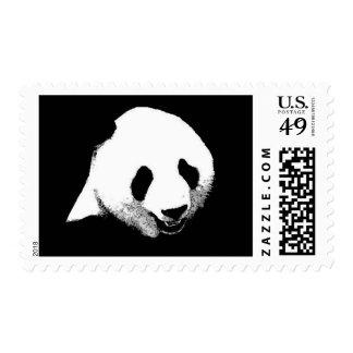 Black & White Panda Postage