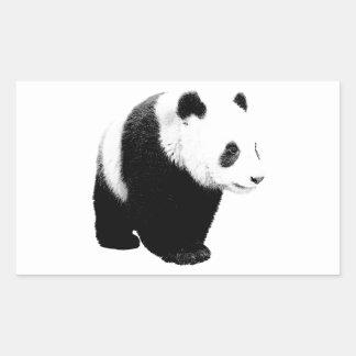 Black & White Panda Rectangular Sticker