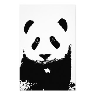 Black & White Panda Stationery