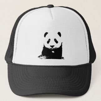 Black & White Panda Trucker Hat