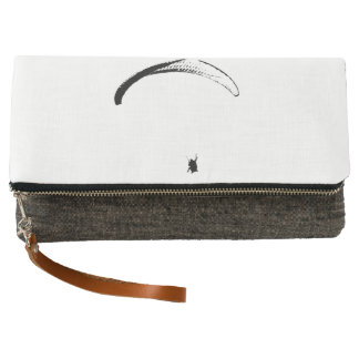 Black & White Parachute - Fold-over Clutch