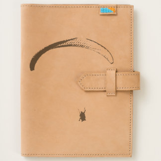 Black & White Parachute - Leather Journal