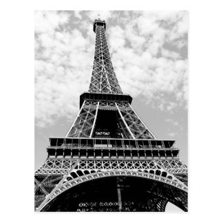 Black & White Paris Eiffel Tower Postcard