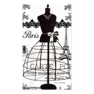Black White Paris Fashion Mannequin Business Cards