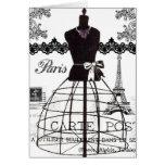 Black White Paris Fashion Mannequin Card
