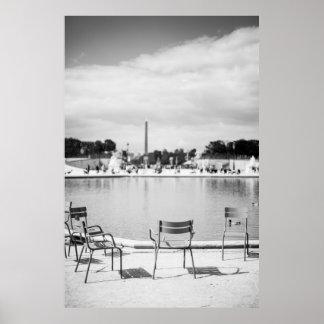 Black & White Paris - Poster