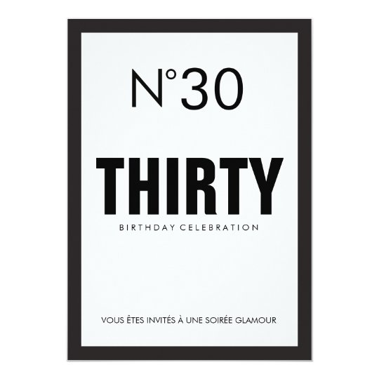 black white paris theme 30th birthday party invitation zazzle com