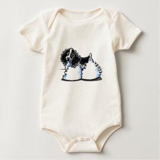 Black White Parti Cocker Spaniel Baby Bodysuit