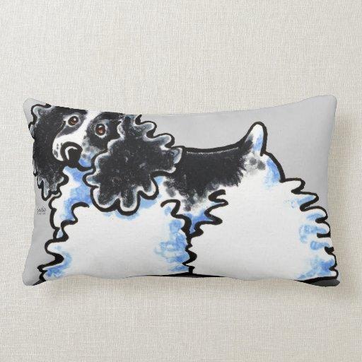 Black White Parti Cocker Spaniel Pillow