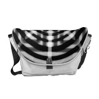 Black & White Patches Messenger Bag