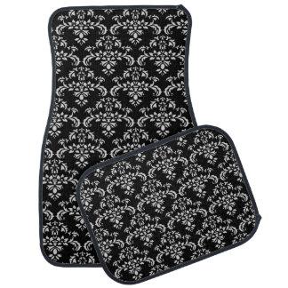Black white pattern car mat set car mat