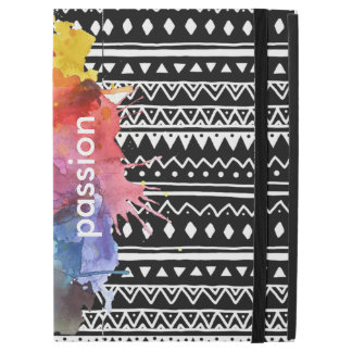 Black&White pattern colour Splash iPad case