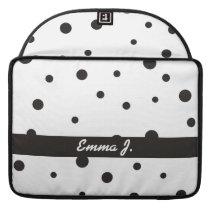 Black & White Pattern Custom Name MacBook sleeve