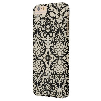 Black & White Pattern Damask Barely There iPhone 6 Plus Case