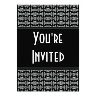 Black White Pattern Party Invite