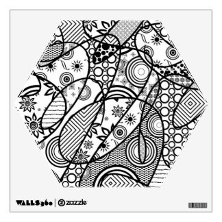 Black & White Pattern Patchwork 01 Wall Decal