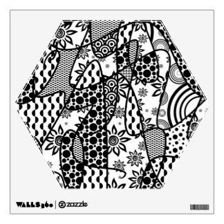 Black & White Pattern Patchwork 03 Wall Decal