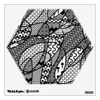 Black & White Pattern Patchwork 05 Wall Decal