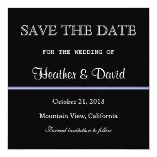 Black White Pattern Save Date Wedding Invitation