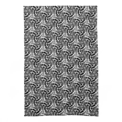 Black White Pattern: Scifi Swirl Kitchen Tea Cloth