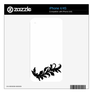 Black & White Pattern Zazzle Skin Skin For The iPhone 4