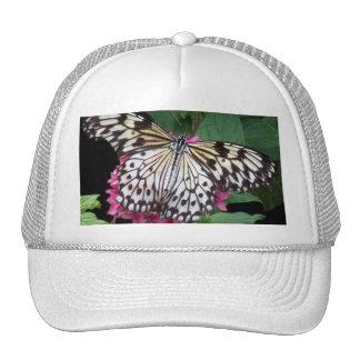 Black White Patterned Butterfly Trucker Hat