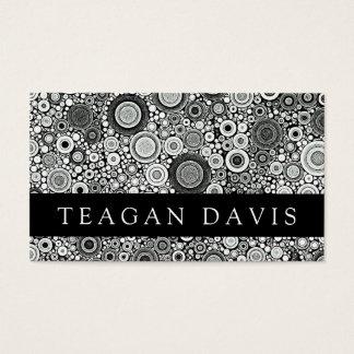 Black & White Patterns | Circles I Business Card