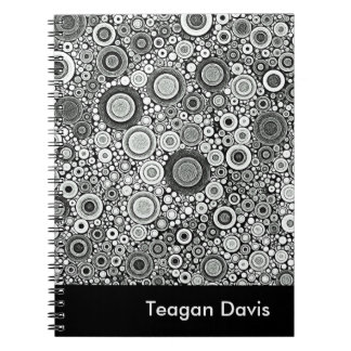 Black & White Patterns   Circles I Notebook
