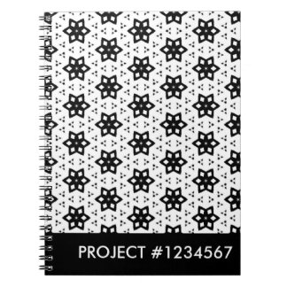 Black & White Patterns | Hexagons III Notebooks