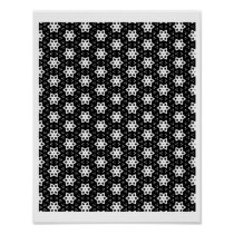 Black & White Patterns | Hexagons IV Poster