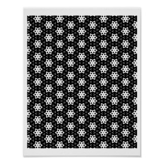 Black & White Patterns | Hexagons IV Poster