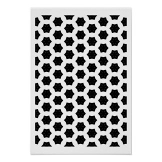 Black & White Patterns | Hexagons VI Poster