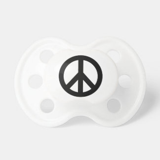 Black White Peace Sign Symbol Pacifier