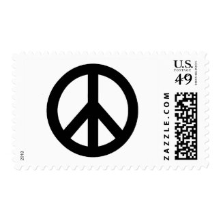 Black White Peace Sign Symbol Postage