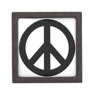 Black White Peace Sign Symbol Premium Gift Boxes