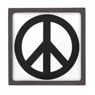 Black White Peace Sign Symbol Premium Trinket Boxes