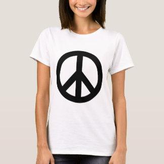 Black White Peace Sign Symbol T-Shirt