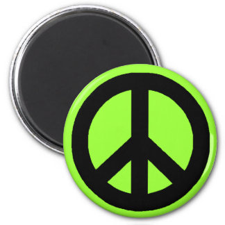 Black & White Peace Signs Magnet